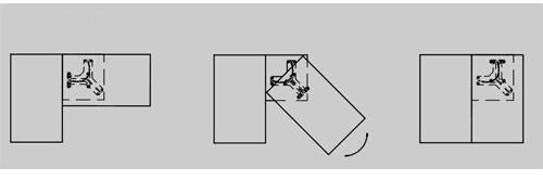 Поворотный механизм дивана «Крокодил» SТ 20-1